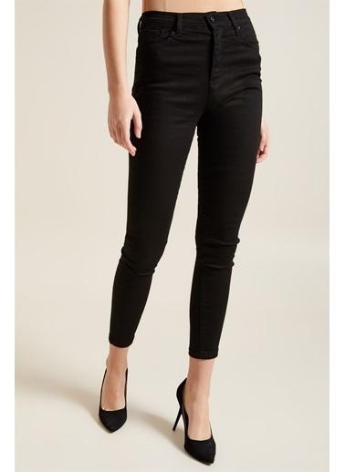 Z Giyim Yüksek Bel Skınny Fit Dar Paça Jean Pantolon Siyah